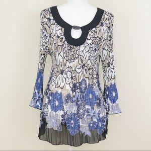 Dressbarn pleated blouse